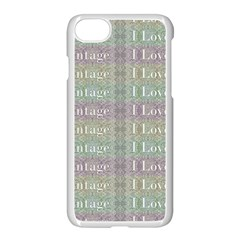 I Love Vintage Phrase Motif Striped Pattern Design Iphone 7 Seamless Case (white) by dflcprintsclothing