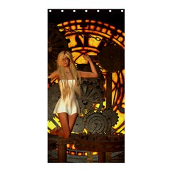 Steampunk Clockwork And Steampunk Girl Shower Curtain 36  X 72  (stall)  by FantasyWorld7