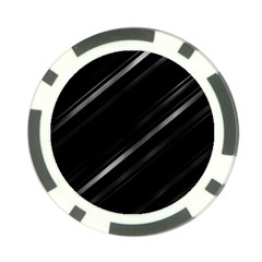 Minimalist Black Linear Abstract Print Poker Chip Card Guard (10 Pack)