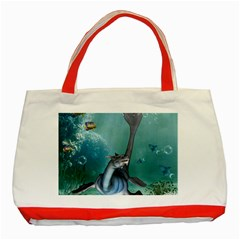 Awesome Seadragon Classic Tote Bag (red) by FantasyWorld7