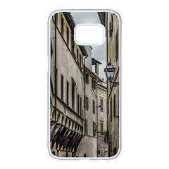 Houses At Historic Center Of Florence, Italy Samsung Galaxy S7 Edge White Seamless Case by dflcprintsclothing