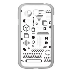Pattern Hipster Abstract Form Geometric Line Variety Shapes Polkadots Fashion Style Seamless Samsung Galaxy Grand Duos I9082 Case (white)