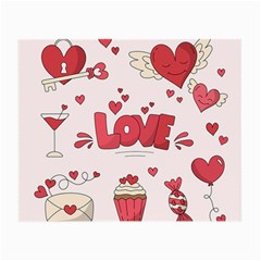 Hand Drawn Valentines Day Element Collection Small Glasses Cloth