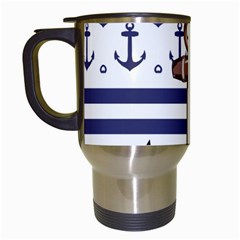 Anchor Background Design Travel Mugs (white)