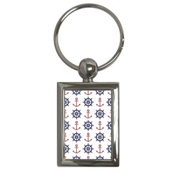 Nautical Seamless Pattern Key Chain (rectangle)
