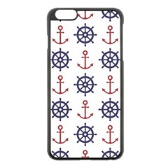 Nautical Seamless Pattern Iphone 6 Plus/6s Plus Black Enamel Case by Vaneshart