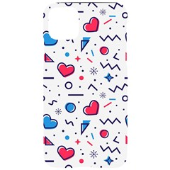 Hearts Seamless Pattern Memphis Style Iphone 11 Pro Max Black Uv Print Case