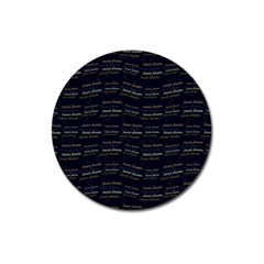 Sweet Dreams Phrase Motif Typographic Pattern Magnet 3  (round) by dflcprintsclothing