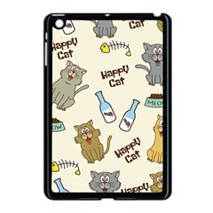 Happy Cats Pattern Background Apple Ipad Mini Case (black) by Vaneshart