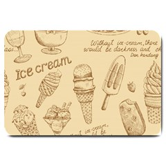 Ice Cream Vintage Pattern Large Doormat  by Vaneshart