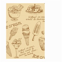 Ice Cream Vintage Pattern Small Garden Flag (two Sides) by Vaneshart