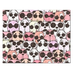 Cute Dog Seamless Pattern Background Rectangular Jigsaw Puzzl