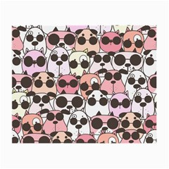 Cute Dog Seamless Pattern Background Small Glasses Cloth by Vaneshart