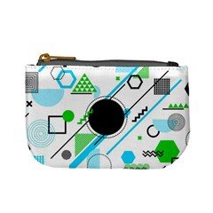 Geometric Shapes Background Mini Coin Purse