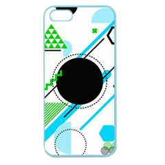 Geometric Shapes Background Apple Seamless Iphone 5 Case (color)