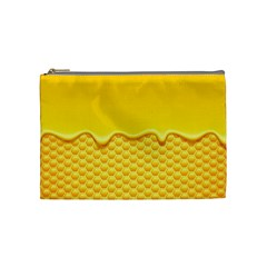 Sweet Honey Drips With Honeycomb Cosmetic Bag (medium)
