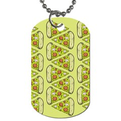 Pizza Fast Food Pattern Seamles Design Background Dog Tag (one Side)