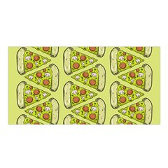 Pizza Fast Food Pattern Seamles Design Background Satin Shawl by Vaneshart