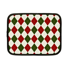 Christmas Argyle Pattern Netbook Case (small) by Sobalvarro