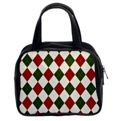 Christmas Argyle Pattern Classic Handbag (two Sides) by Sobalvarro