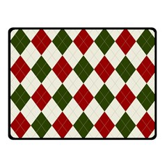 Christmas Argyle Pattern Fleece Blanket (small) by Sobalvarro