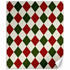 Christmas Argyle Pattern Canvas 8  X 10  by Sobalvarro