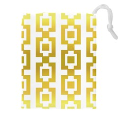 Gold Square Pattern  Arvin61r58 Drawstring Pouch (3xl) by Sobalvarro