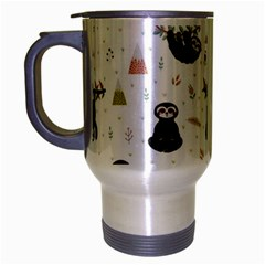 Cute Sloths Travel Mug (silver Gray) by Sobalvarro