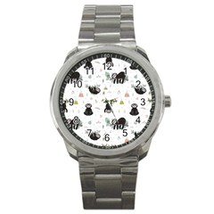 Cute Sloths Sport Metal Watch by Sobalvarro