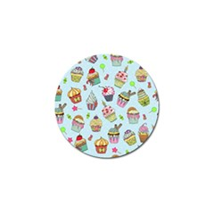 Cupcake Doodle Pattern Golf Ball Marker (10 Pack) by Sobalvarro