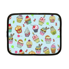 Cupcake Doodle Pattern Netbook Case (small) by Sobalvarro