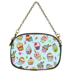 Cupcake Doodle Pattern Chain Purse (two Sides) by Sobalvarro