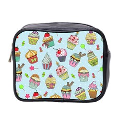 Cupcake Doodle Pattern Mini Toiletries Bag (two Sides) by Sobalvarro