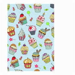Cupcake Doodle Pattern Small Garden Flag (two Sides) by Sobalvarro