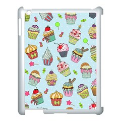 Cupcake Doodle Pattern Apple Ipad 3/4 Case (white) by Sobalvarro