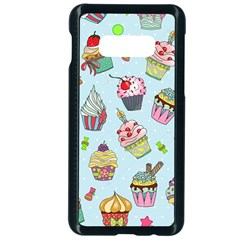 Cupcake Doodle Pattern Samsung Galaxy S10e Seamless Case (black) by Sobalvarro