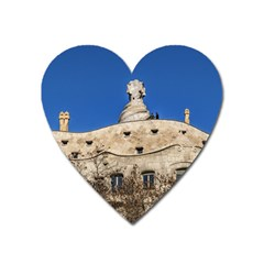 Gaudi, La Pedrera Building, Barcelona - Spain Heart Magnet by dflcprintsclothing