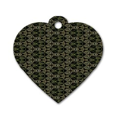 Green Digitalart Dog Tag Heart (two Sides)