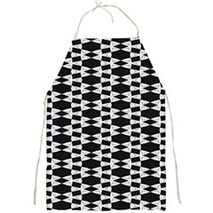 Black And White Triangles Full Print Apron