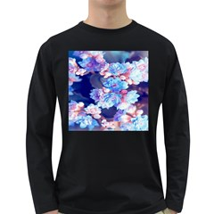 Flowers Long Sleeve Dark T-shirt by Sparkle
