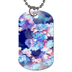 Flowers Dog Tag (one Side)