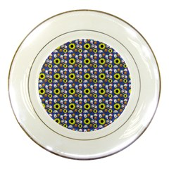 Hawaii Ghost Blue Porcelain Plates
