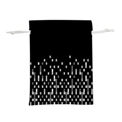 Black And White Matrix Patterned Design Lightweight Drawstring Pouch (s) by dflcprintsclothing
