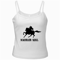 Warrior Soul Graphic Silhouette Concept Illustration White Spaghetti Tank by dflcprintsclothing