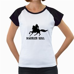 Warrior Soul Graphic Silhouette Concept Illustration Women s Cap Sleeve T by dflcprintsclothing