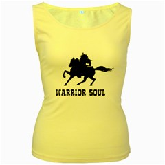 Warrior Soul Graphic Silhouette Concept Illustration Women s Yellow Tank Top by dflcprintsclothing