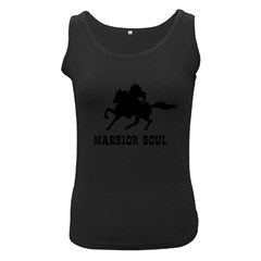Warrior Soul Graphic Silhouette Concept Illustration Women s Black Tank Top by dflcprintsclothing