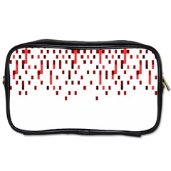 Red And White Matrix Patterned Design Toiletries Bag (two Sides) by dflcprintsclothing