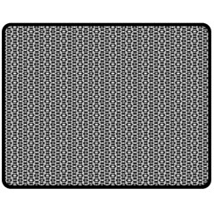 Black And White Triangles Double Sided Fleece Blanket (medium)