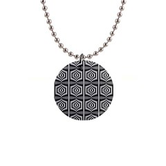 Mandala Pattern 1  Button Necklace